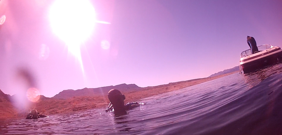 Diving on Lake Mead